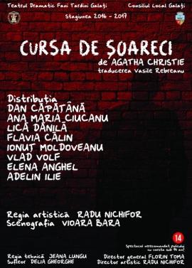 Afis spectacol - Cursa de şoareci, Teatrul Dramatic Fani Tardini