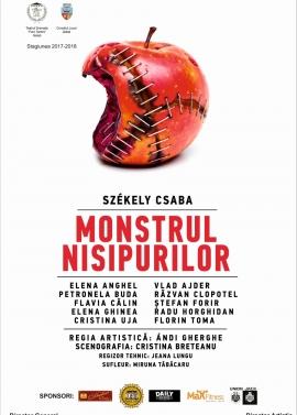 Afis spectacol - MONSTRUL NISIPURILOR, Teatrul Dramatic Fani Tardini